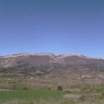 vue du gite sur la vallée du buech et la montagne