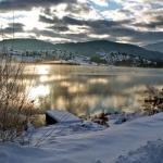 coucher de soleil hivernal sur le lac-du-riou