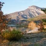 le plan d'eau du riou à l'automne